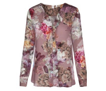 Fashion-Bluse 'Schwarze Rose' rosé