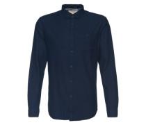 Button-Down-Hemd blau