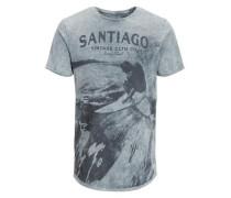 Bedrucktes T-Shirt graumeliert