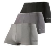 Langer Boxer (3 Stück) grau / schwarz