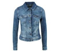 Kurze Stretch-Jeansjacke blau