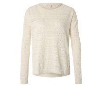Pullover 'Ajour' offwhite