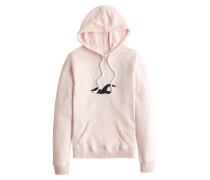 Sweatshirt hellpink / weiß / schwarz