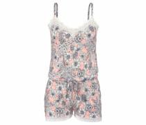 Bodywear Playsuit mit Allover-Blumenprint mischfarben