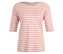 T-Shirt 'Jaden' orange / weiß