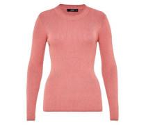 Lurex-Pullover aus Rippstrick lachs / rot