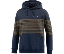 'threezy' Hoodie Herren navy / orange