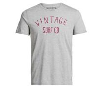 Stickereidetail-T-Shirt grau
