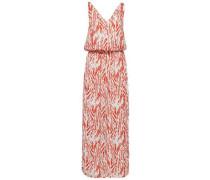 Print-Kleid rot / weiß