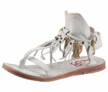 -Sandale hellgrau / weiß