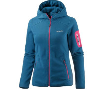'Outdoor Novelty' Fleecejacke himmelblau / pink