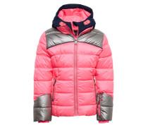 Winterjacke 'Trona' pink / silber