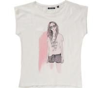 T-Shirt für Mädchen braun / rosa / weiß