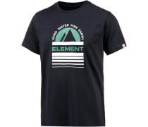 T-Shirt 'Apex' nachtblau / jade / weiß