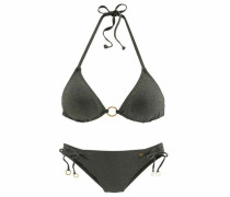 Triangel-Bikini gold / oliv
