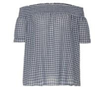 Offshoulder-Bluse blau / weiß