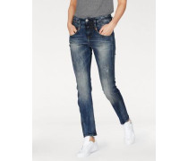 'Pitch Mom' Boyfriend-Jeans blue denim