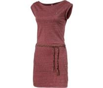 Jerseykleid rotmeliert