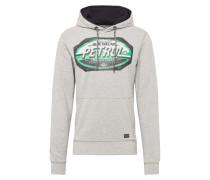 Sweatshirt hellgrau / grün