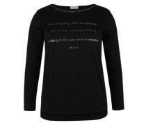 Langarmshirt mit Metallic-Details schwarz
