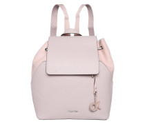 Rucksack mit Klappe lila / pink
