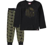 Schlafanzug Ninjago Nicolai für Jungen brokat / schwarz