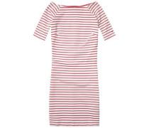 Kleid »Thdw Knit STP Dress 3/4 SLV 18« rot / weiß