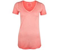 T-Shirt V-Neck Paillette orange