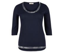 Shirt mit Metallic-Effekt nachtblau