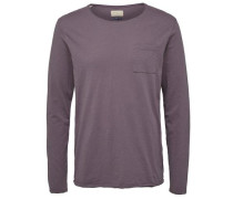 Shirt 'shncliff LS O-Neck Tee' greige