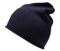 Merino-Mütze blau