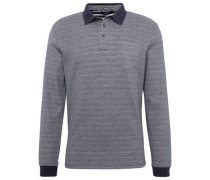 Polo Langarm-Poloshirt navy / weiß