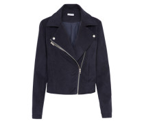 Wildlederimitat-Jacke navy