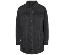 Lange Jeansjacke schwarz