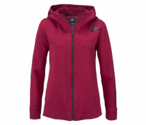 Kapuzensweatjacke 'nsw Av15 Fleece Cape' rot