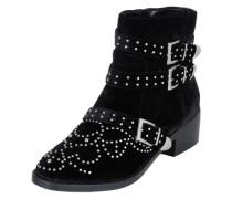 Ankle Boots 'Flat Bootie Studs' schwarz
