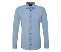 Slim: Schmales Businesshemd blau