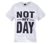 """T-Shirt """"not MY Day"""" für Jungen weiß"""