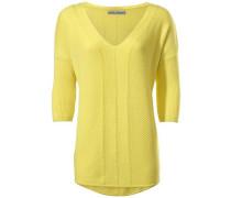 V-Pullover gelb