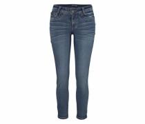 7/8-Jeans 'Mit Fake-Zippertaschen' blau