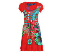 Jerseykleid 'Regina' rot / mischfarben