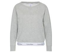 Sweatshirt mit Logo-Bund graumeliert