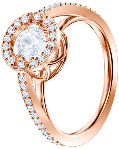 Ring 'Sparkling' rosegold / transparent