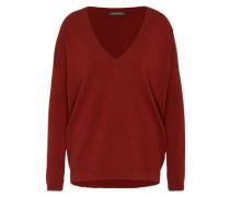 Woll-Pullover mit Kaschmir-Anteil rot