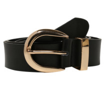 Gürtel 'leather Jeans' schwarz