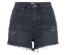 Jeansshort 'mom Short' black denim