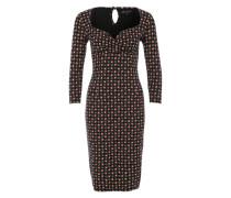 Jerseykleid mit Allover-Print 'Perry' schwarz