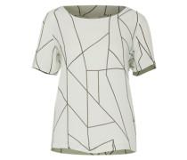 Shirt 'Vizette' hellgrau / schwarz