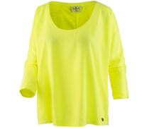 Langarmshirt Damen gelb