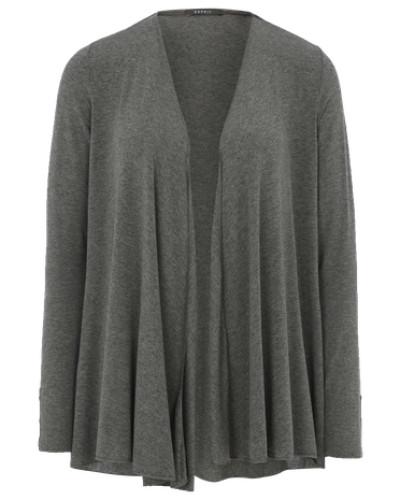 esprit damen esprit collection cardigan ohne verschluss grau reduziert. Black Bedroom Furniture Sets. Home Design Ideas